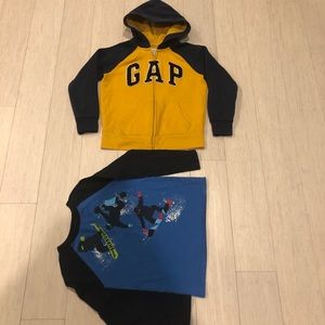 Boys jacket from Gap size 6-7 and top